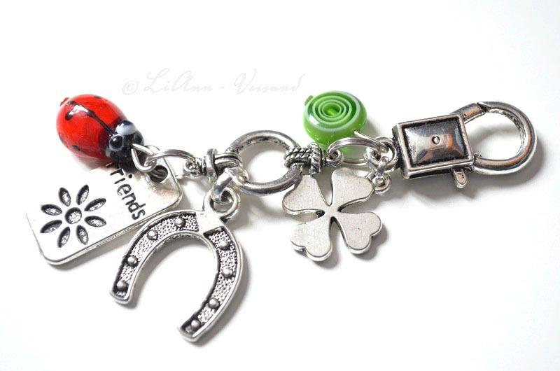 Glücksketten & -anhänger - ✼ Viel Glück ✼ Schlüsselanhänger - ein Designerstück von LiAnn-Versand bei DaWanda