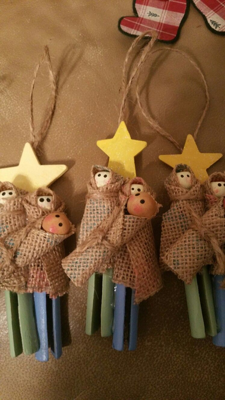 Christmas Clothespin Manger Scene Christmas Clothespins Clothespin Crafts Christmas Preschool Christmas Crafts