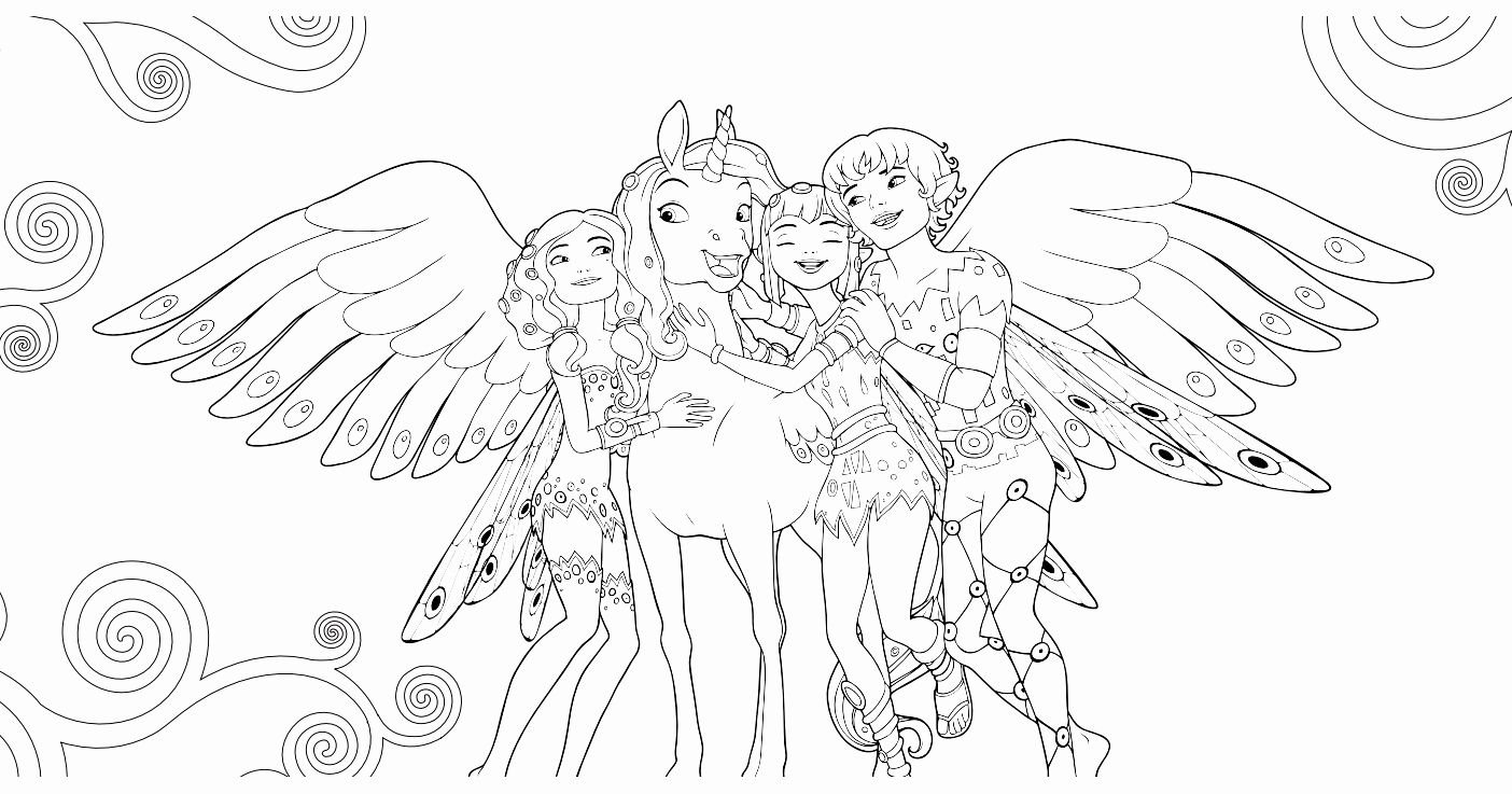Mia and Me Coloring Page Luxury Mia and Me Free to Color for