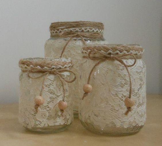 Creative Recycle - Kerzenhalter, Stifthalter und individuelle Blumentöpfe   - Vidros...Espelhos... -   #Blumentöpfe #Creative #Individuelle #Kerzenhalter #recycle #Stifthalter #und #VidrosEspelhos #masonjardiy