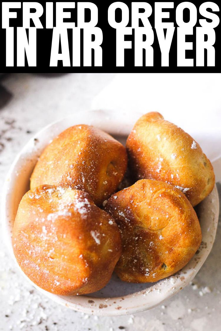 Air fryer fried oreos Air fryer fried OREOS, taste just like deep fried! Easy dessert recipe that is great for even beginners. Fried oreo cookies are the best for parties and for you kids, simple and quick! Not really healthy but so sweet and crunchy.