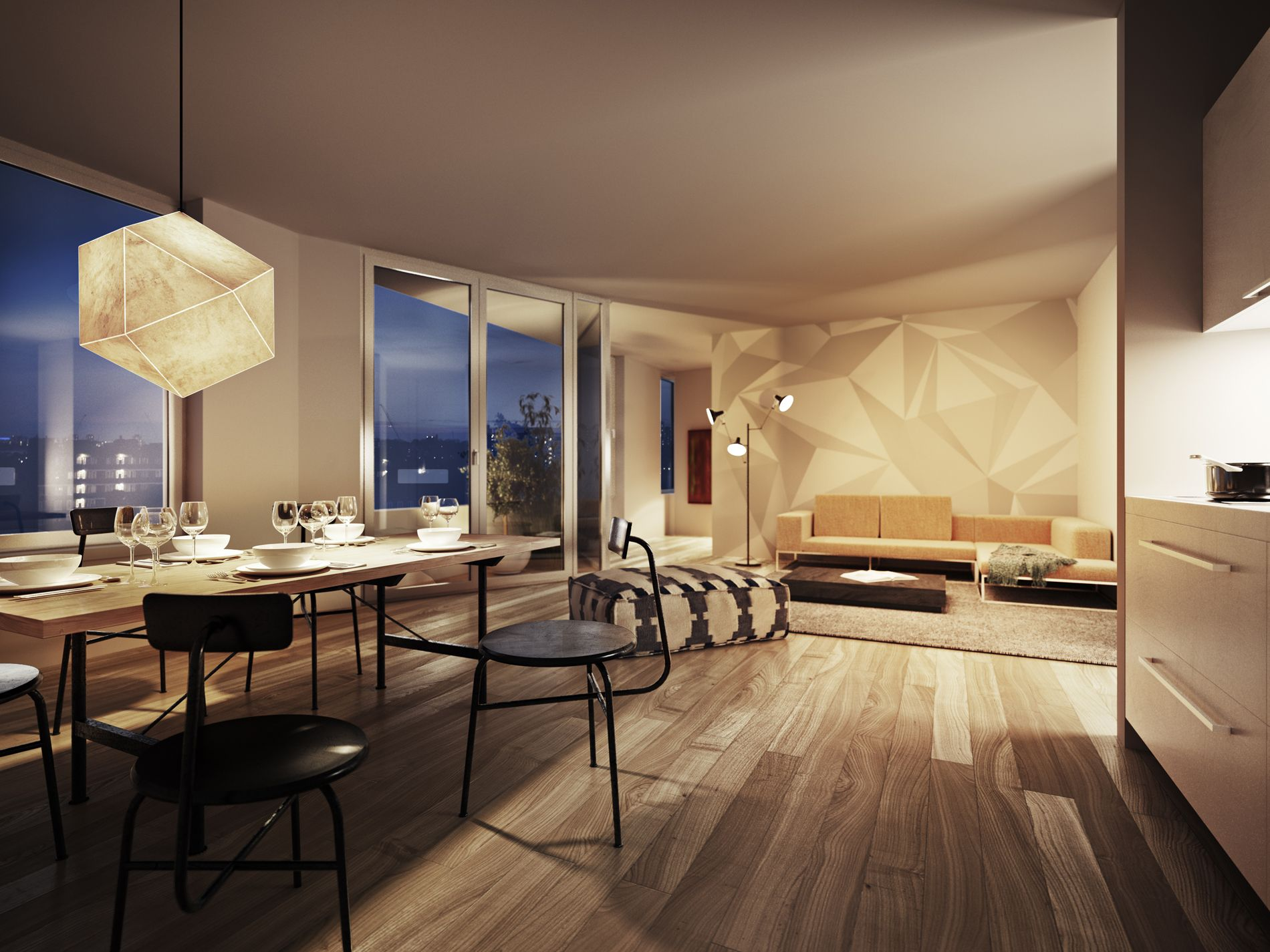 dusk interior renderings - Google Search | wtr | Pinterest
