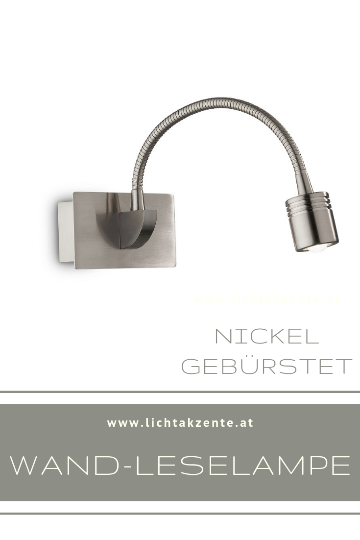 Ideal Lux Led Leselampe Dynamo Nickel Leselampe Bett Beleuchtung Wohnzimmer Lampe