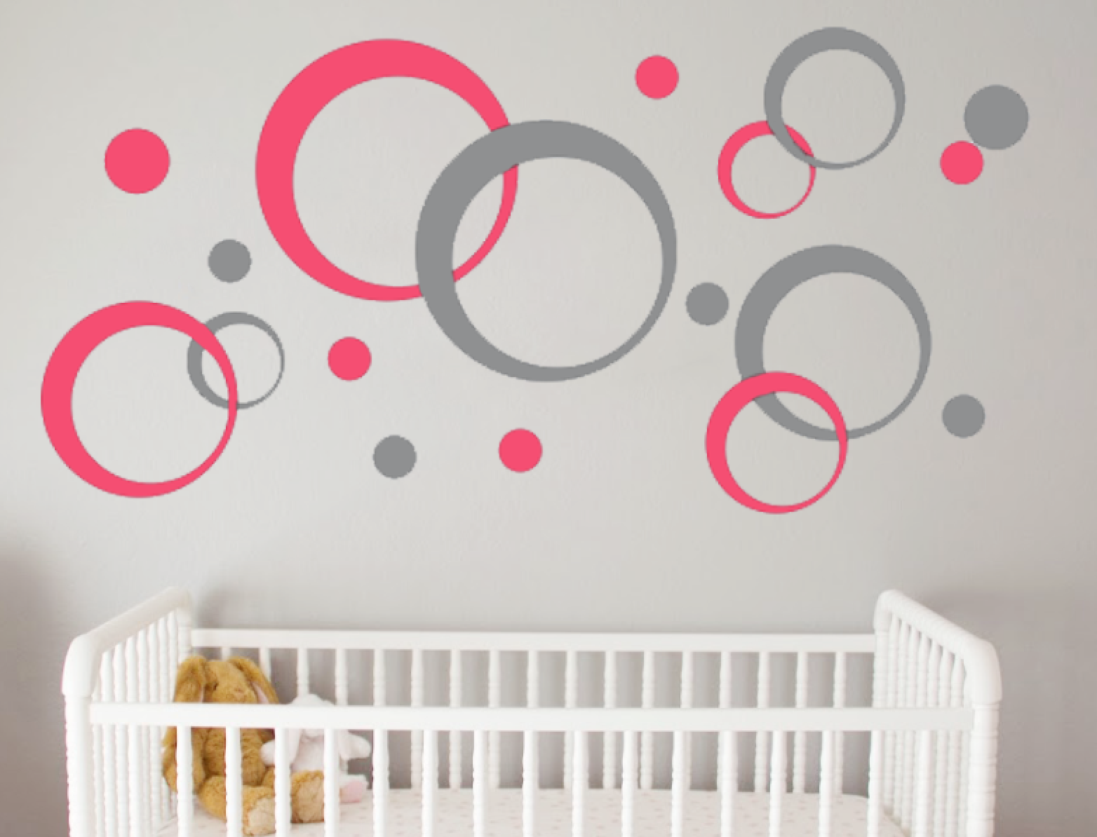 Geometric Wall Decal Bubbles Circles Retro Decor L And Stick Decals