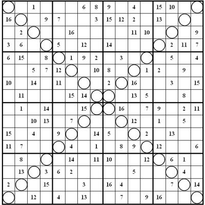 Image result for free 16x16 super challenger sudoku