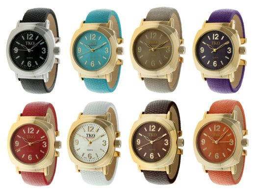 Awesome Leather Cuff Watch....one of every color please!