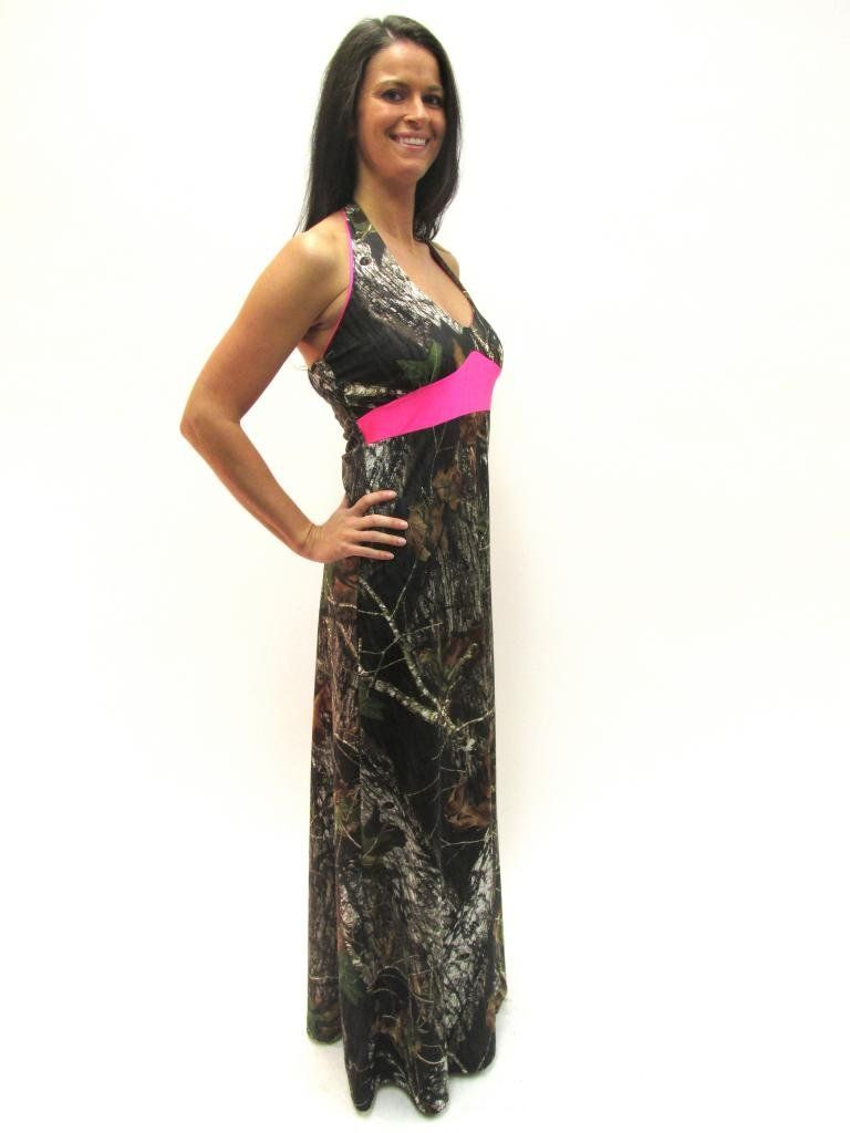 Camo diva carrie ann halter camo prom bridesmaid dress xsmall