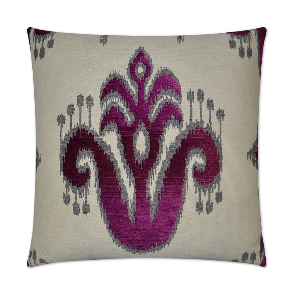 Caseeah Fuchsia Feather Down Hidden Zipper 24-inch Decorative Throw Pillow