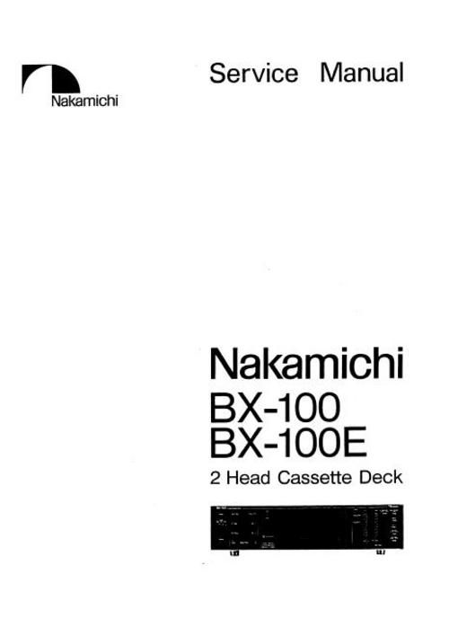 nakamichi bx 100 bx 100e original service manual nakamichi rh pinterest co uk Operators Manual Stop Watch Manual User Guide