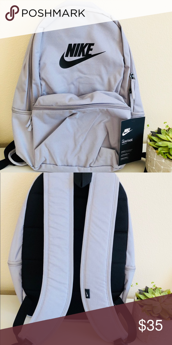 NWT Nike Heritage Backpack 🎒 NWT Nike Heritage Backpack 🎒 Brand new  Color  gray with black swoosh Ask any questions 😊 Bundles ❄ Sunday -  Thursday ... 86c00ed439