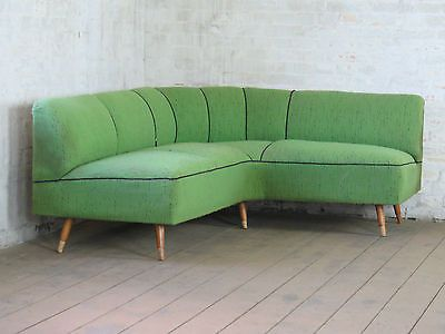 Mid Century Retro Circular Corner Round Sofa Couch Vintage Ecksofa 70s 60s