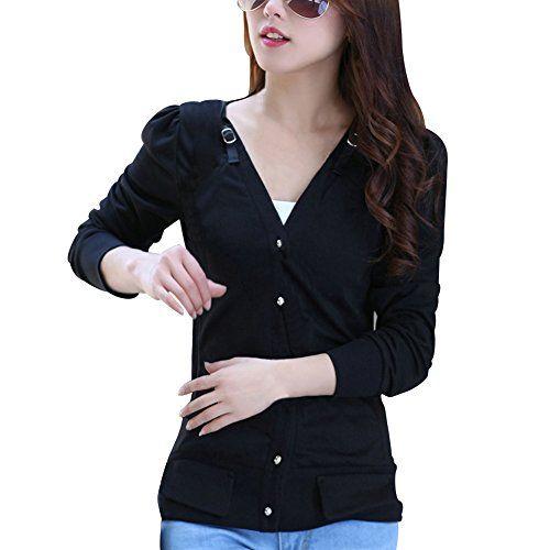 TLZC Women's Casual Puff Sleeve V-neck Buttons Cotton Top... http://www.amazon.com/dp/B00PD81CTW/ref=cm_sw_r_pi_dp_5Gqhxb0Q8AD7N