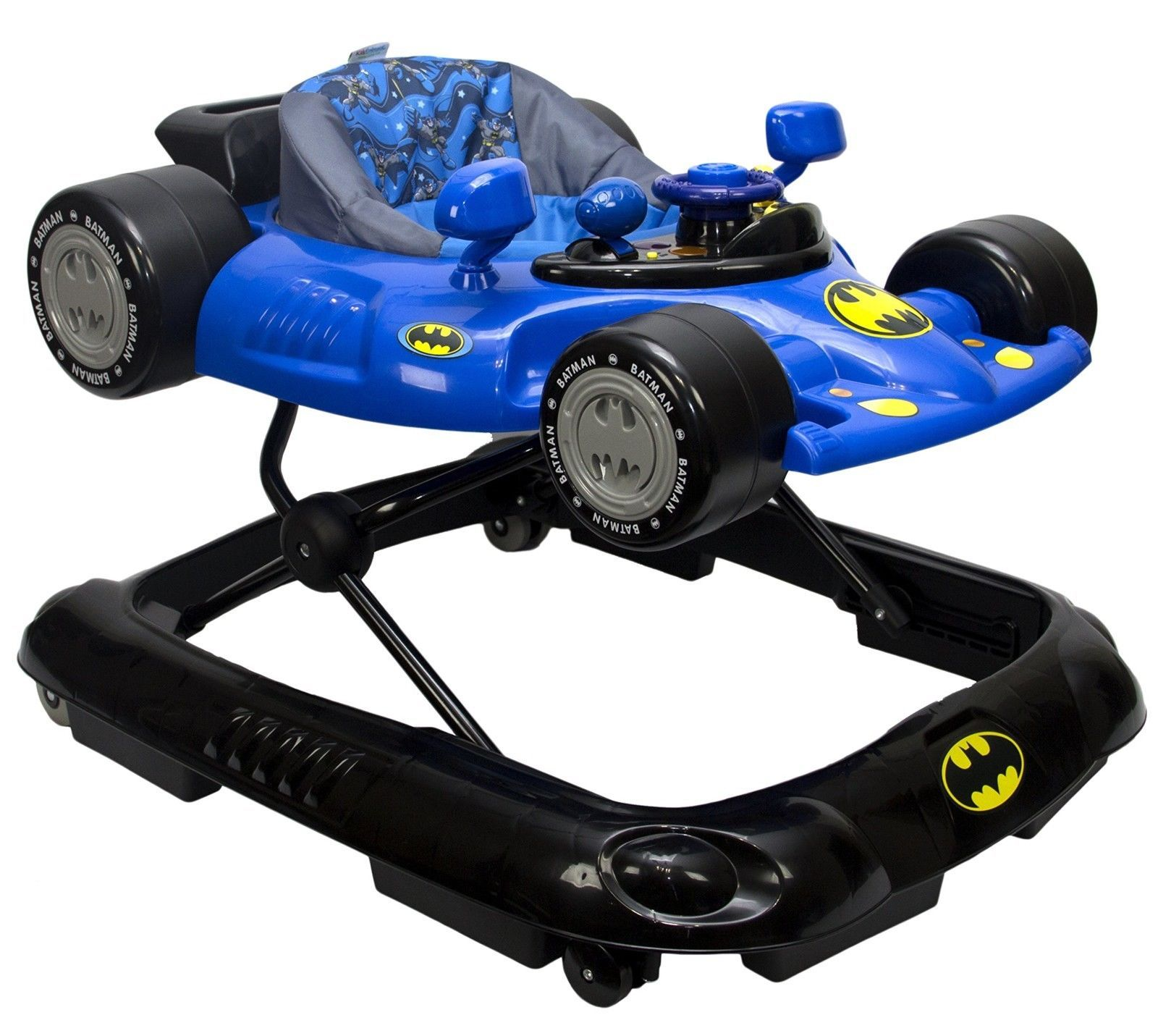 Baby Walker Safety Jumper Bouncer 1st Steps Walk Infant Toddler Batman Car Toy