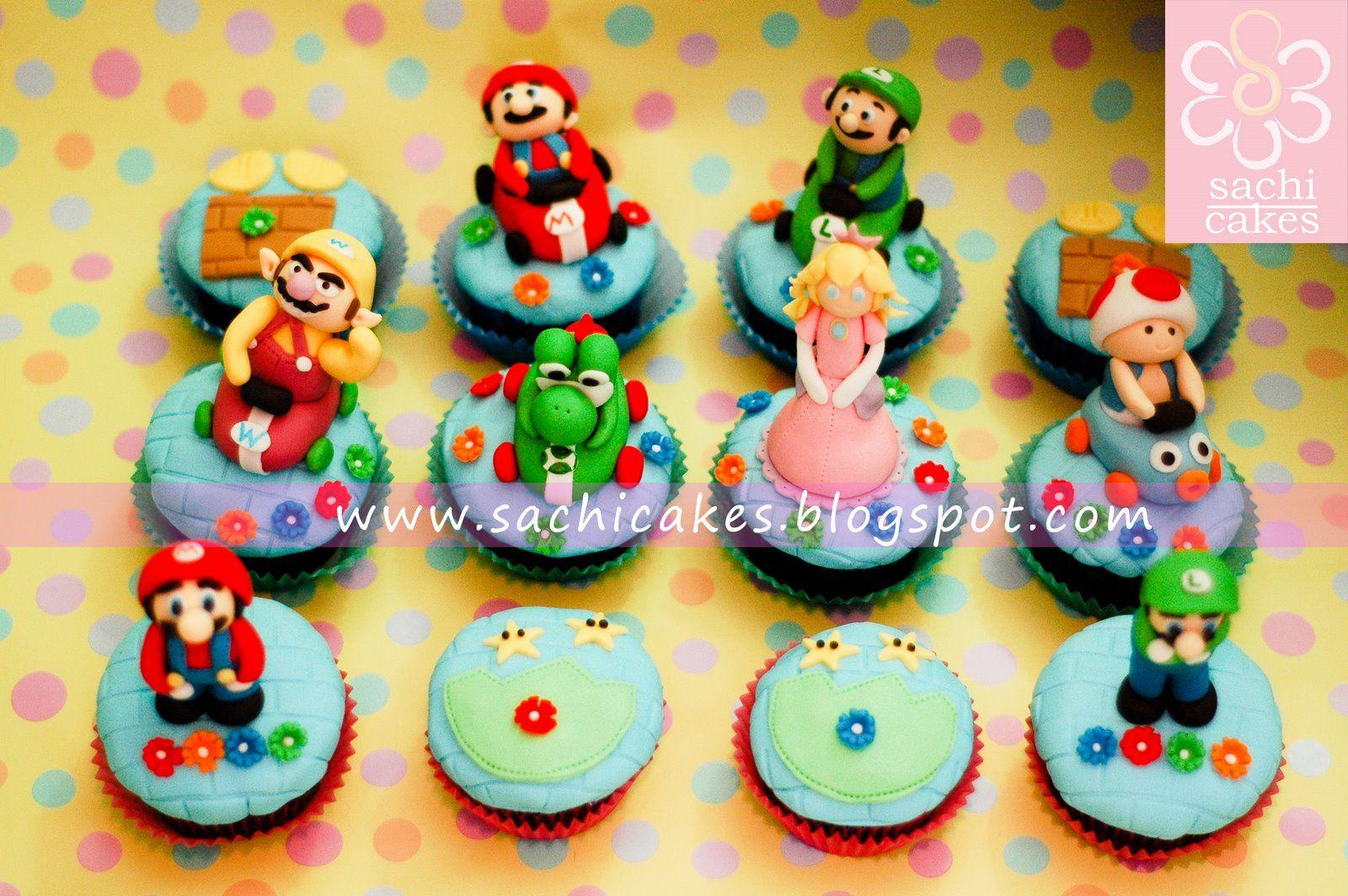 super mario game cupcakes | T55. Geek | Pinterest | Cake kids, Cake ...