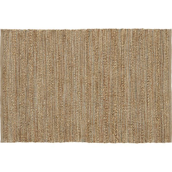 Jarvis Azure Rug From Crate And Barrel. It Is A Rustic Jute And Soft Cotton