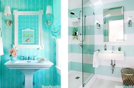 Verde agua para refrescar ambientes  Pastel