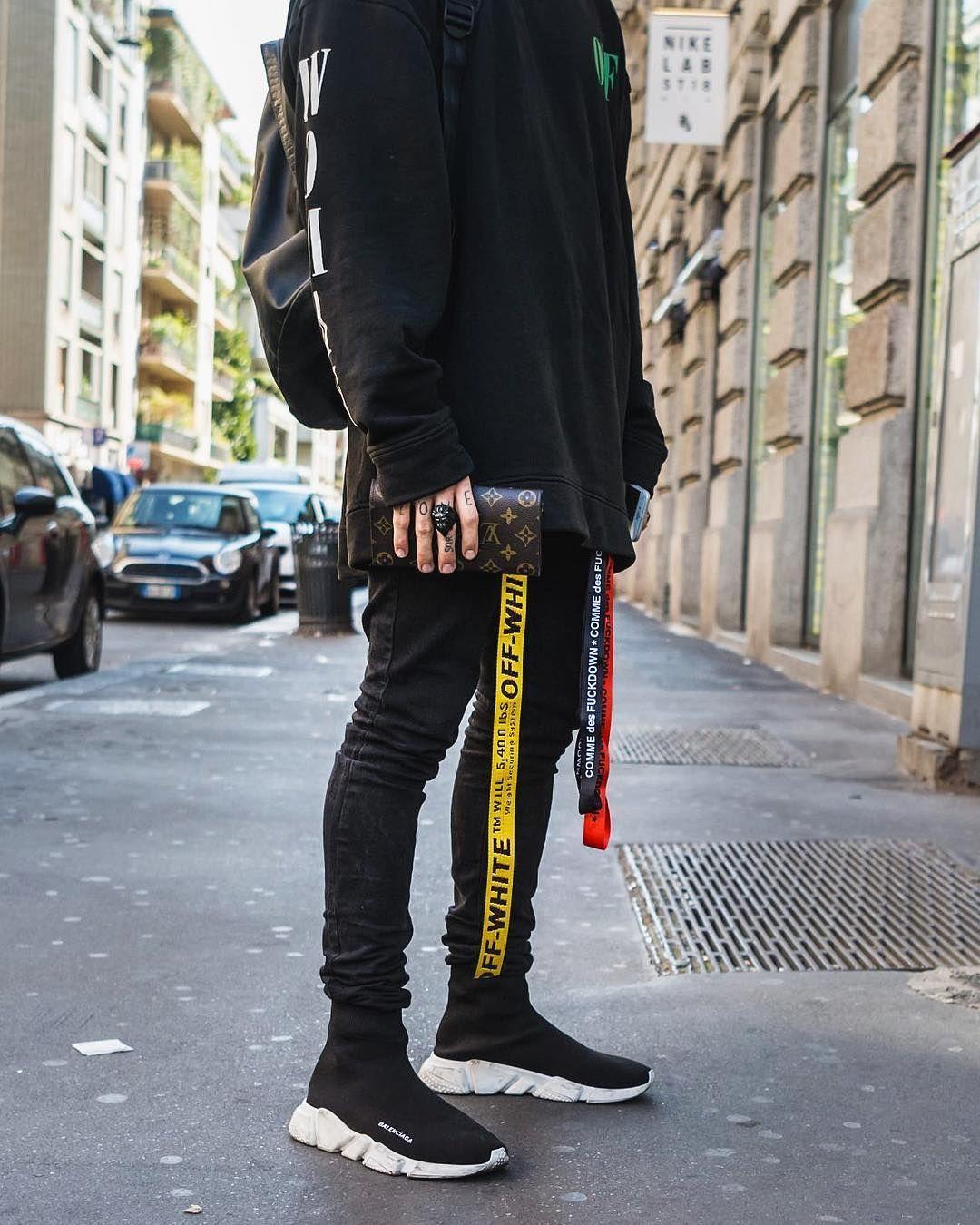 Ootd 2018 #balenciaga hype hypebeast black pants gucci gang supreme bape | Modas | Pinterest ...