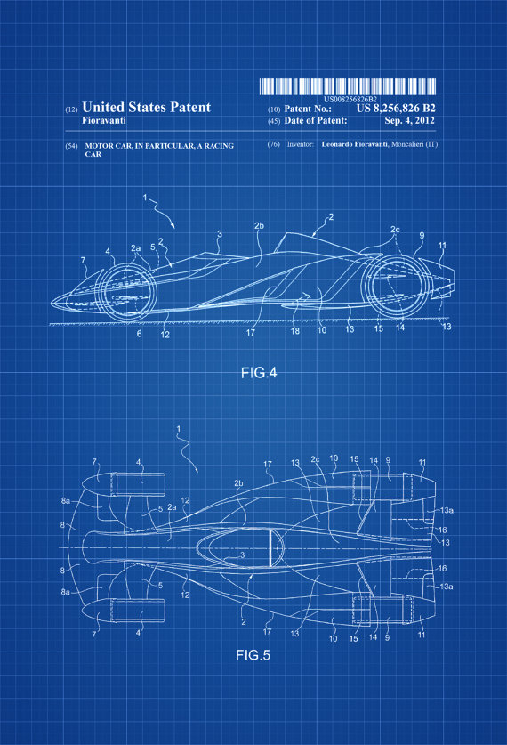 Genial Ferrari Formula One Racing Car Patent   Patent Print, Wall Decor,  Automobile Decor, Automobile Art,