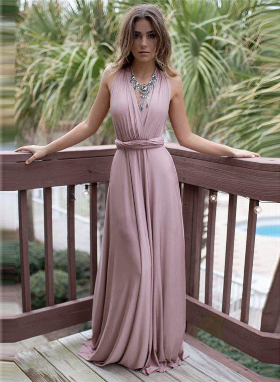 b54287b8c22bd Elegant V Neck Sleeveless Backless Long Prom Dress in 2019 | Dresses ...