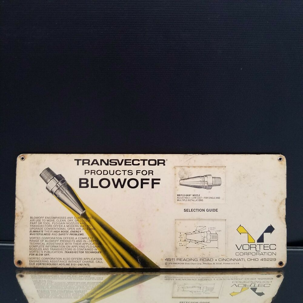 1978 Vortec Transvector Products for Blowoff Compressed