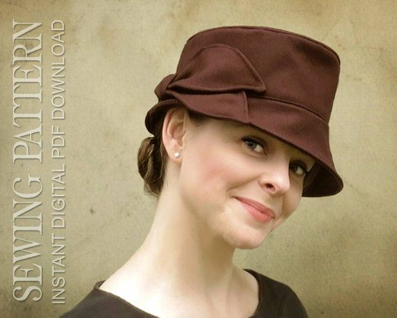 05c3ce1ba587f2 SEWING PATTERN - Joan, 1960's/modern bucket hat for Child or Adult ...