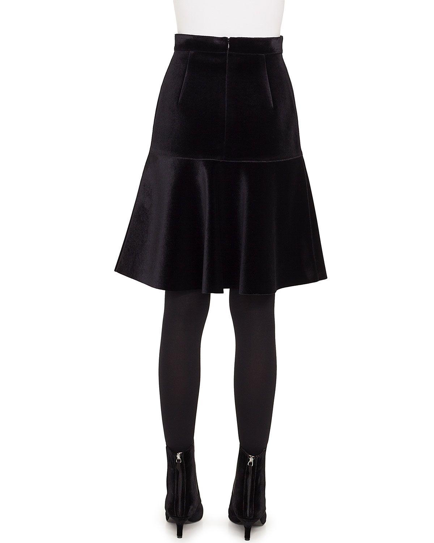 457fd47293 Akris punto Bell-Shaped Scuba Velvet Knee-Length Skirt | Products ...