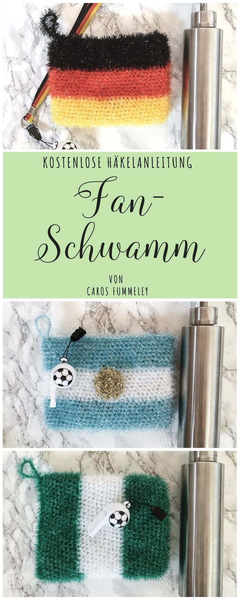 Fan Schwamm Häkeln Zur Weltmeisterschaft German Diy Blogger