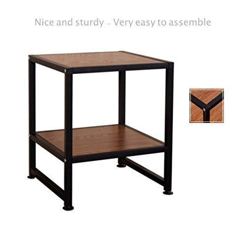 2 shelf side end coffee square sofa table laptop stand pc desk study rh pinterest com