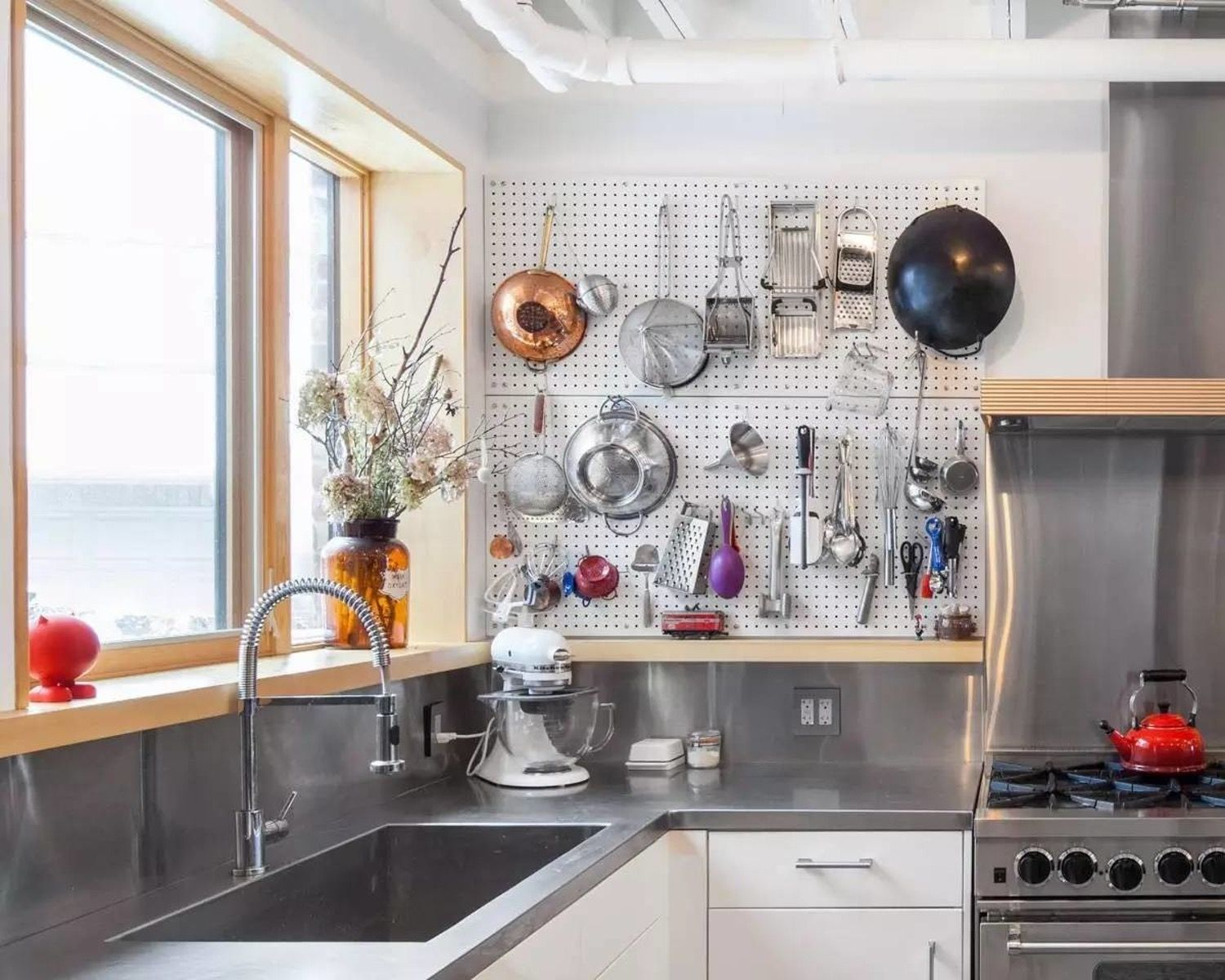 5 smart fresh ways to use pegboards in the kitchen kitchens with rh pinterest com
