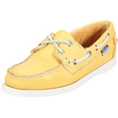 Sebago Docksides Womens Leather Boat Shoes - Yellow Sebago. $92.87 ...