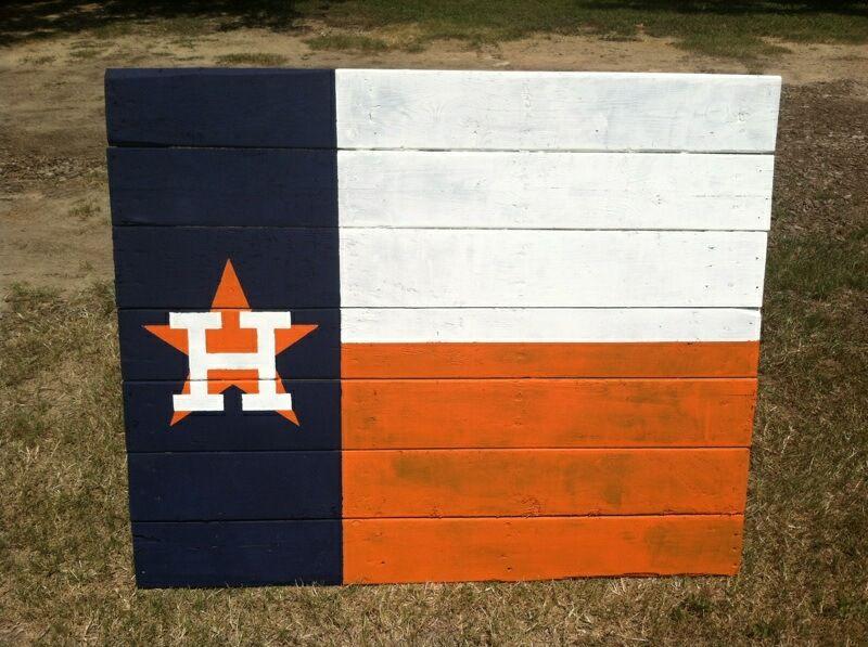 Homemade Houston Astros Texas Flag Pallet Sports Arena