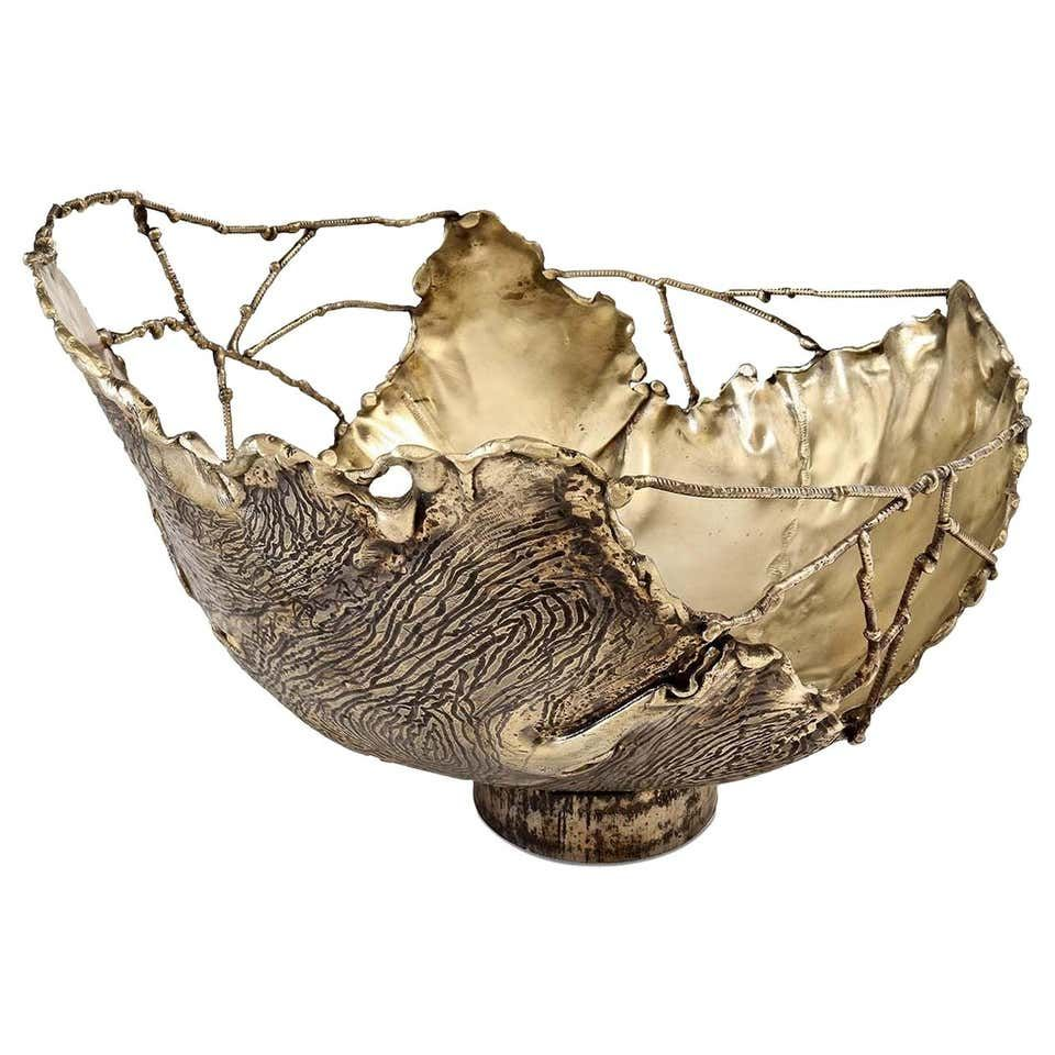 Photo of Bark Brass Bowl by Dal Furlo