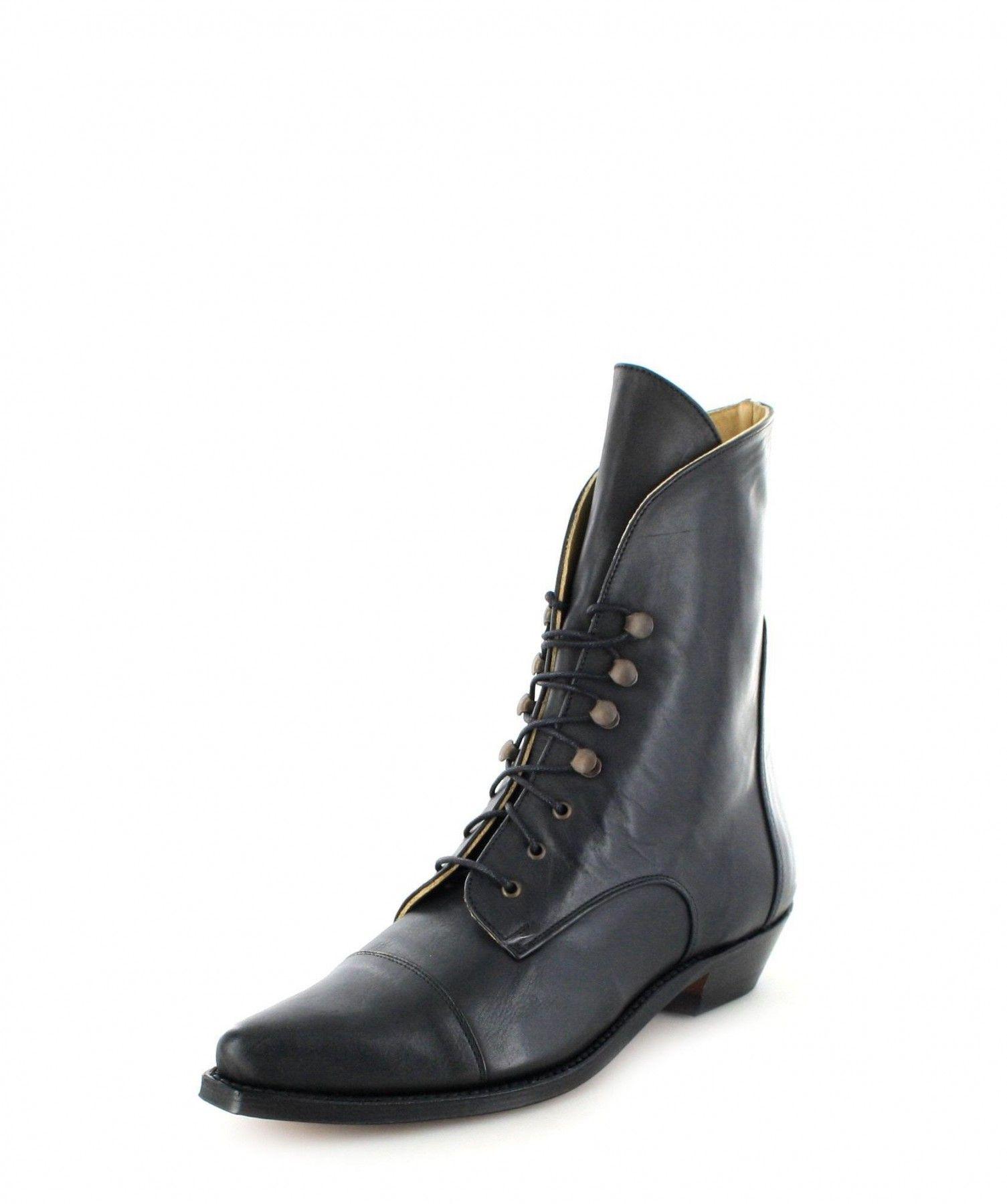 Sendra Boots 11699 Schwarz Weiss Damen Western Schnürstiefelette