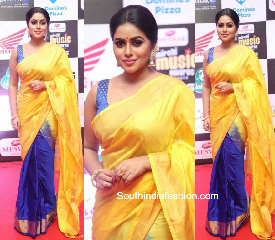 a05a0fc87b Poorna in a half and half silk saree | exclusive sarees | Saree ...