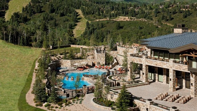 the st regis deer valley resort with fabulous mountain view 2 rh pinterest com