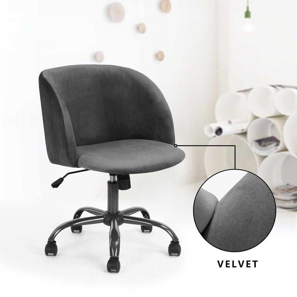 mid back swivel computer desk chair ergonomic modern accent office rh pinterest com