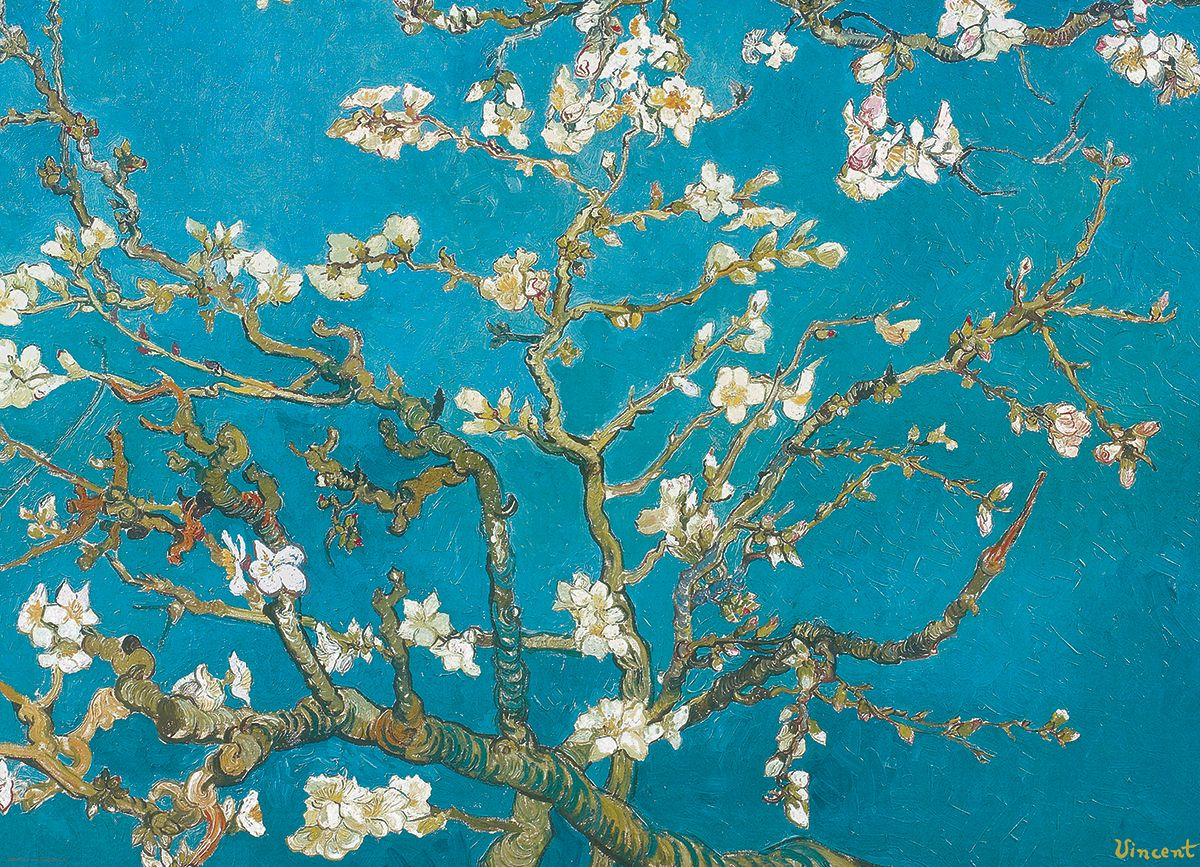 Almond Branches by Vincent Van Gogh 1000-Piece Puzzle. Almond ... for Almond Blossom Van Gogh Poster  156eri