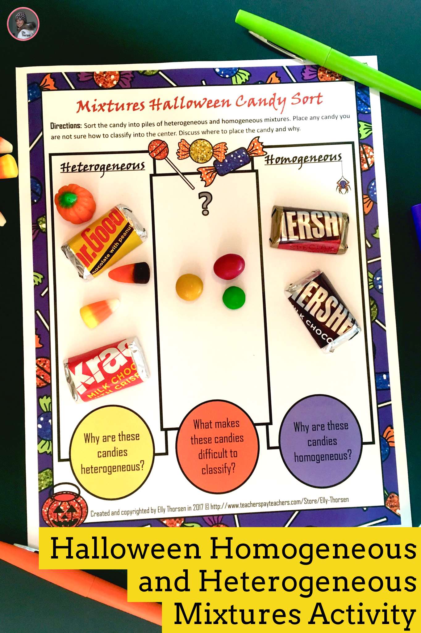 Heterogeneous And Homogeneous Mixtures Candy Sorting