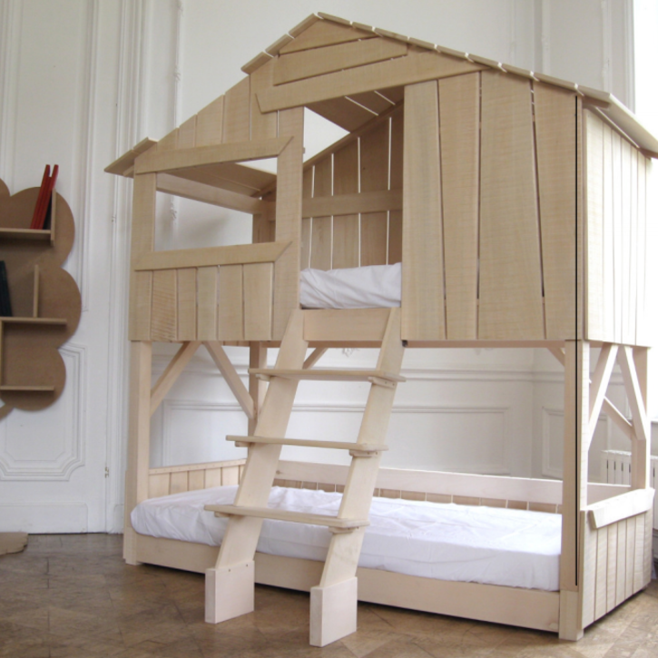 Tree House Bed Bunkbed by Mathy by Bols in Limewood