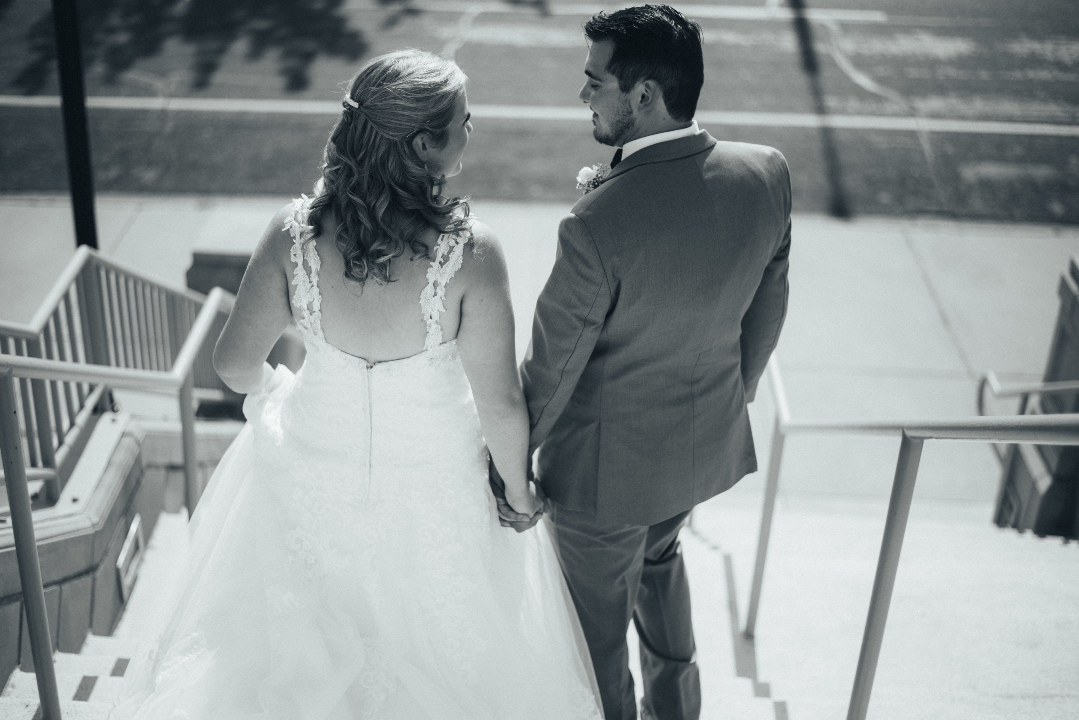 Wedding at First United Methodist Church in Denton, Texas