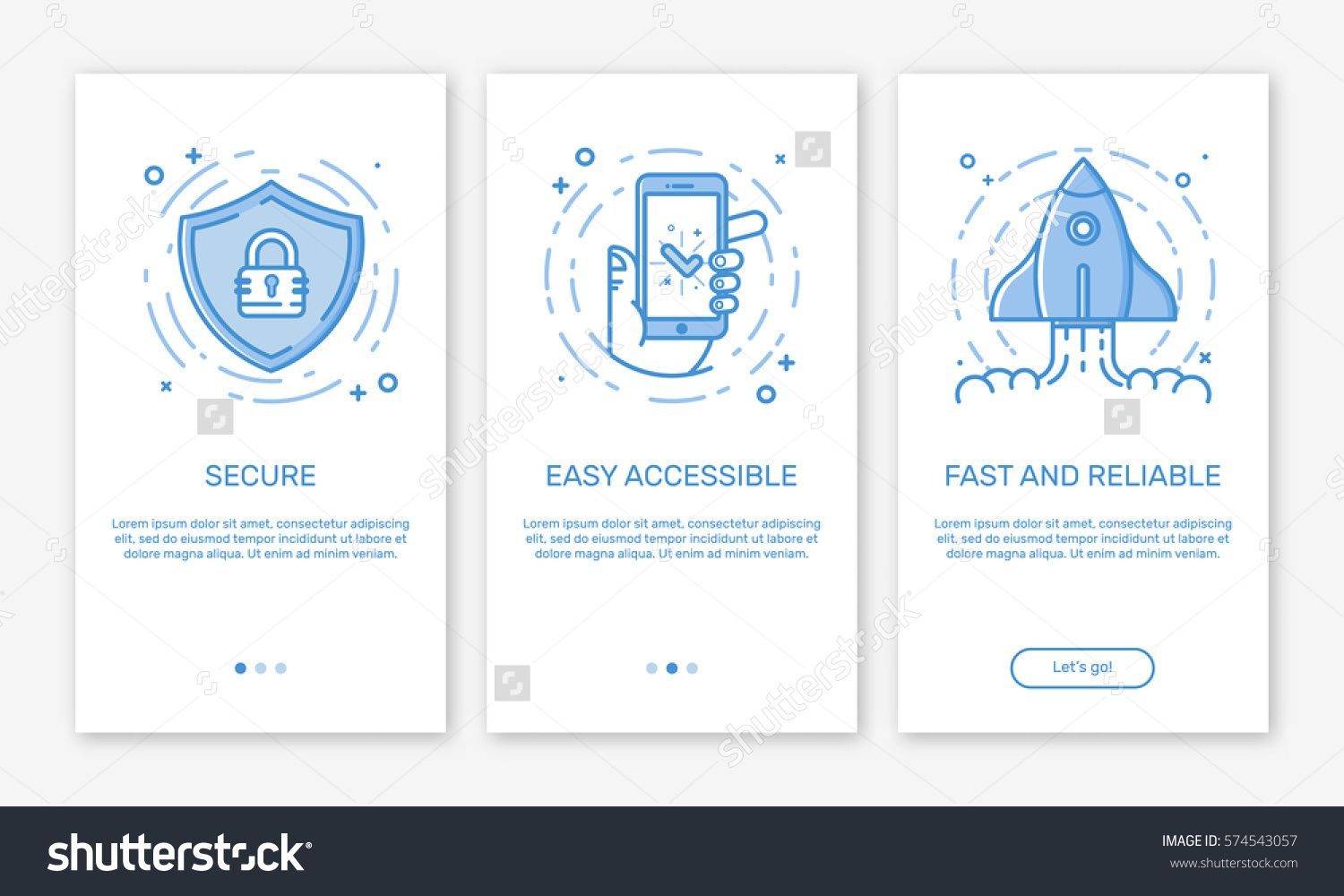 Vector Illustration of onboarding app screens and web
