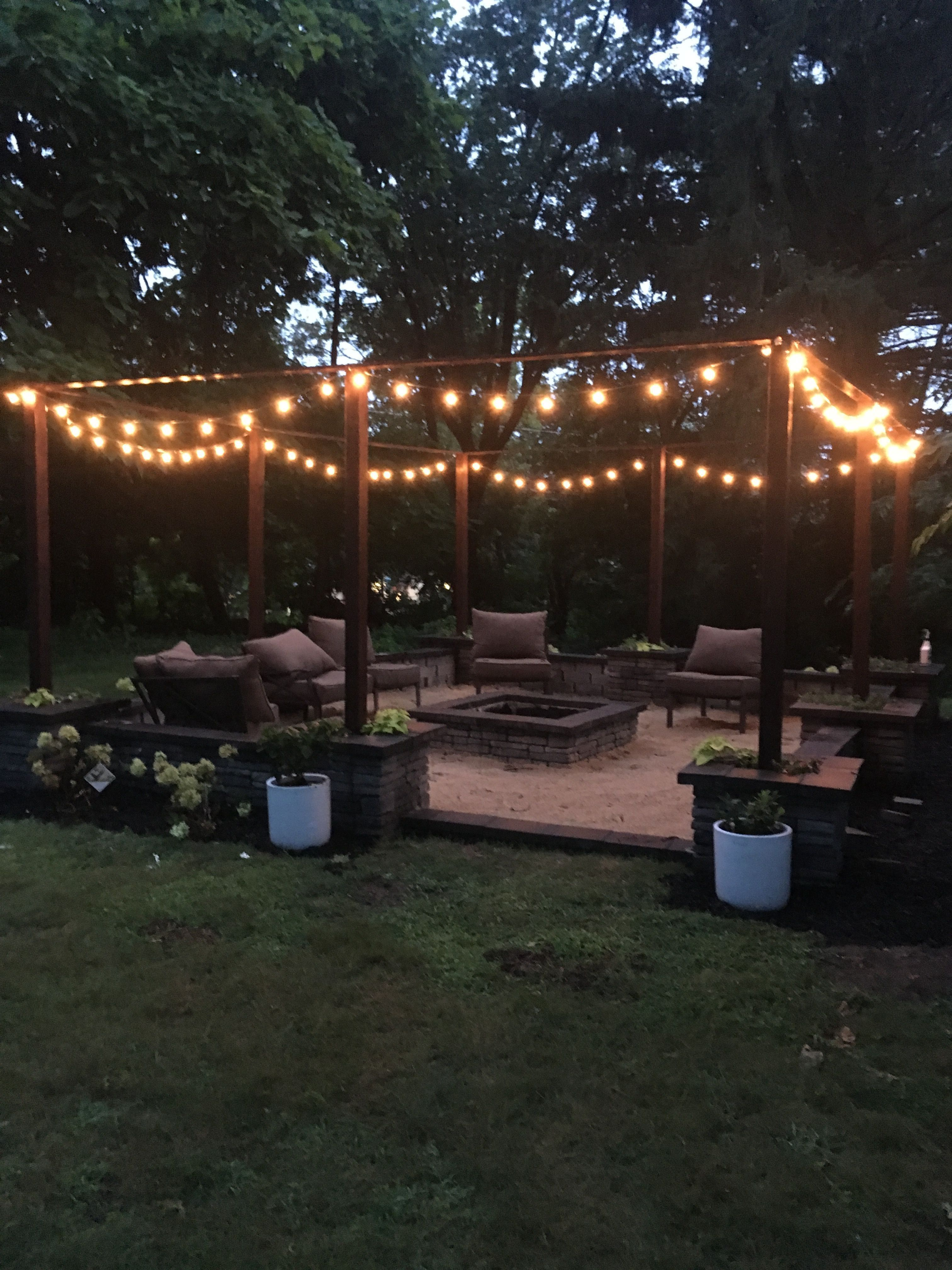 25 DIY FIRE PIT PLAN IDEAS WITH LIGHTING FOR FRONT YARD