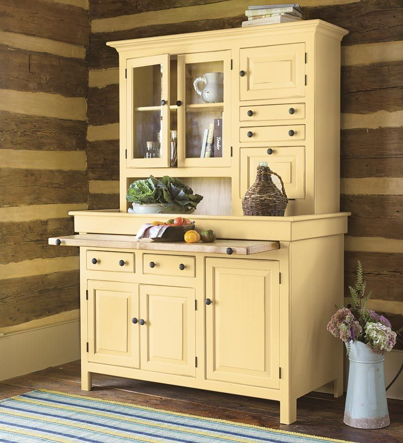 Furniture Kitchen Cabinets: Large Painted Finish Conestoga Cupboard