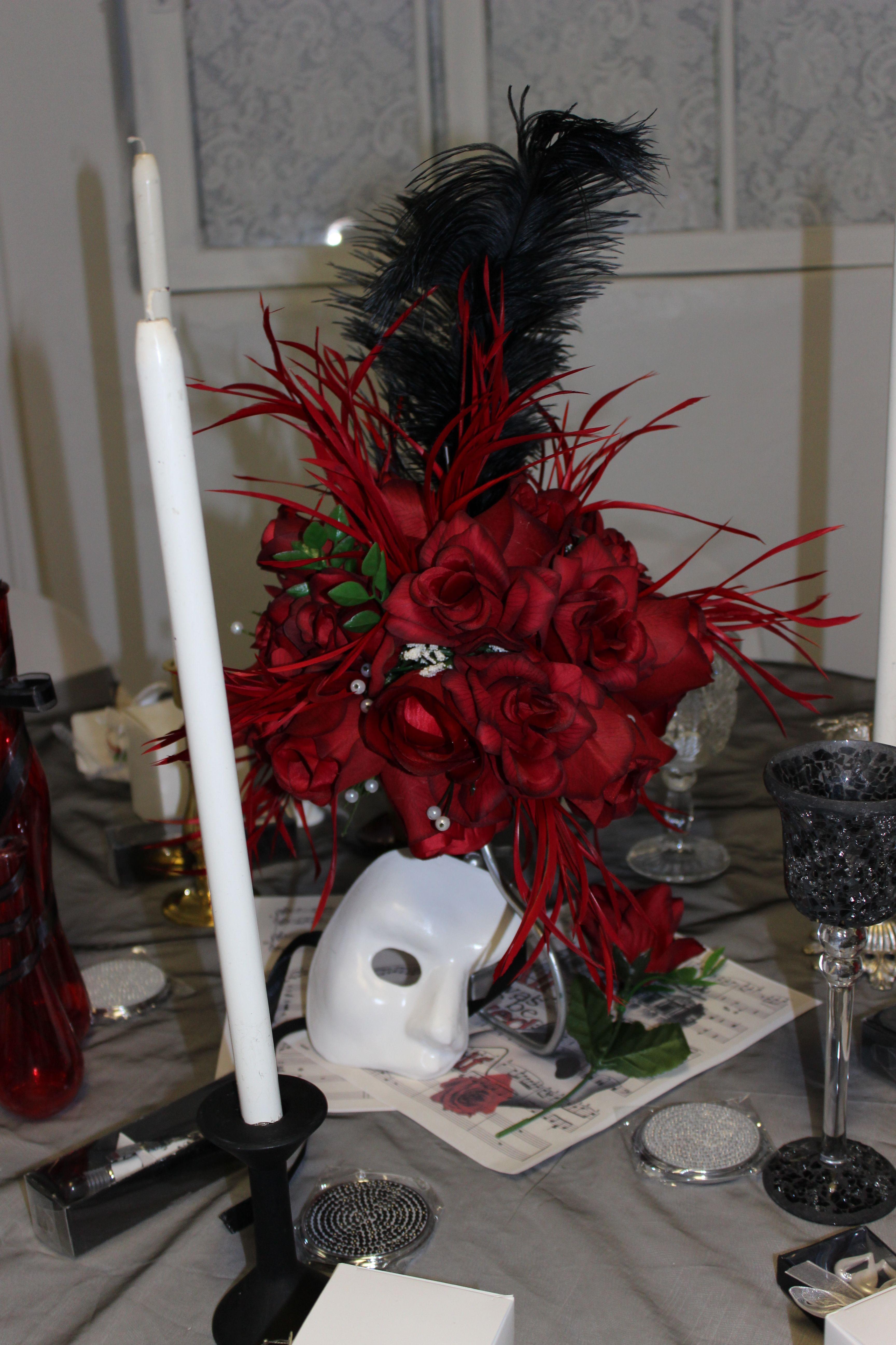 centerpiece phantom of the opera wedding and reception in 2019 rh pinterest com