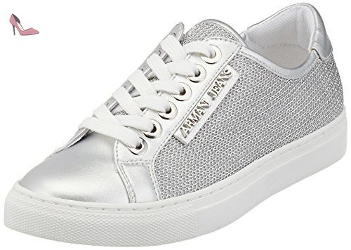 9252207p610, Sneakers Basses Femme, Blanc (Bianco), 41 EUEmporio Armani