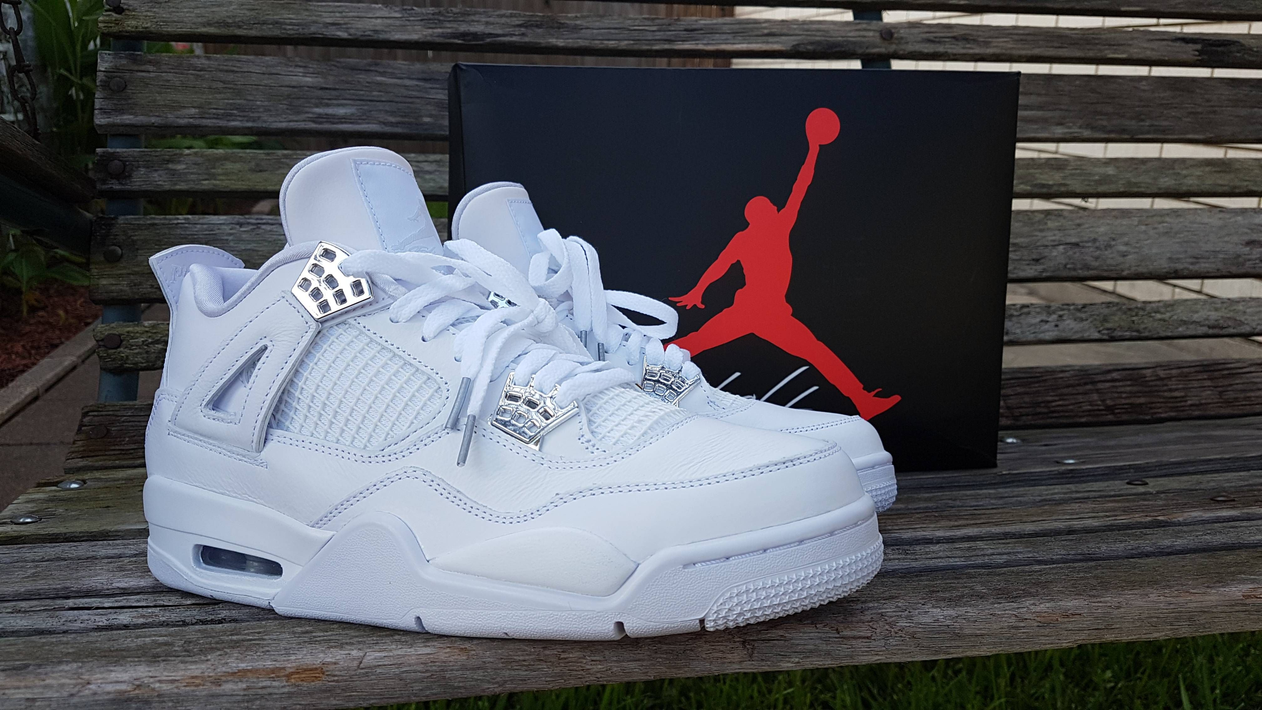 4ffd6ae1397 I got these on my Birthday Also My first Pair of Jordans (Pure Money 4s)