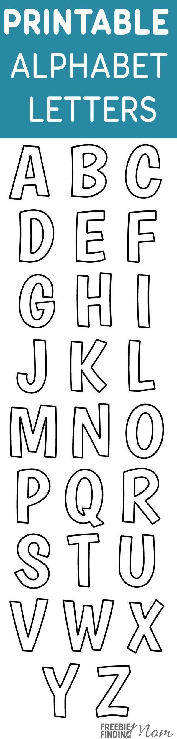 Printable FREE Alphabet Templates   Printables, Teaching kids and ...