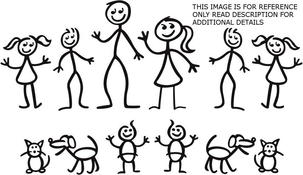 Stick Figure Family High Quality Decals Stick Figure Family Stick Figure Drawing Stick Figures