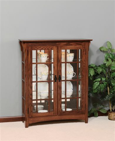 Good Amish Mission Curio Cabinet With Mullions