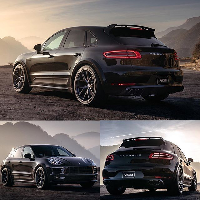 Luxury Cars Porsche Cars Black Porsche: HRE #P101 In Brushed Dark Clear Porsche Macan